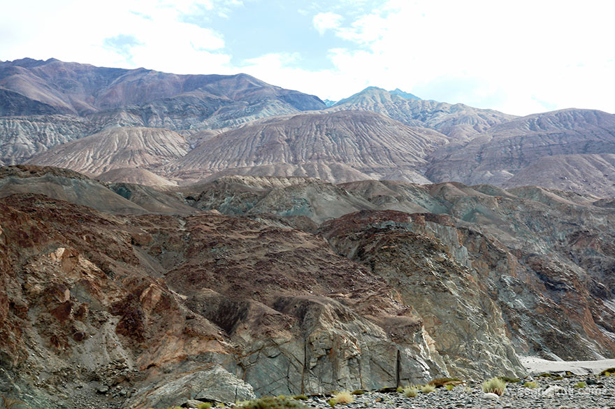 Mountains have various looks and colors, somewhere enroute. Just amazing views whilst driving through Ladakh.