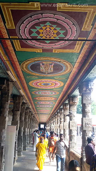 "As you enter from south side there is a long corridor with golden lily tank on the right. All pics from cell phone since camera not allowed. To see pics of external part of mandir <a href=""http://www.esamskriti.com/photo-detail/Meenakshi-Temple-Madurai.aspx"" target=""_blank"">Click here</a>"