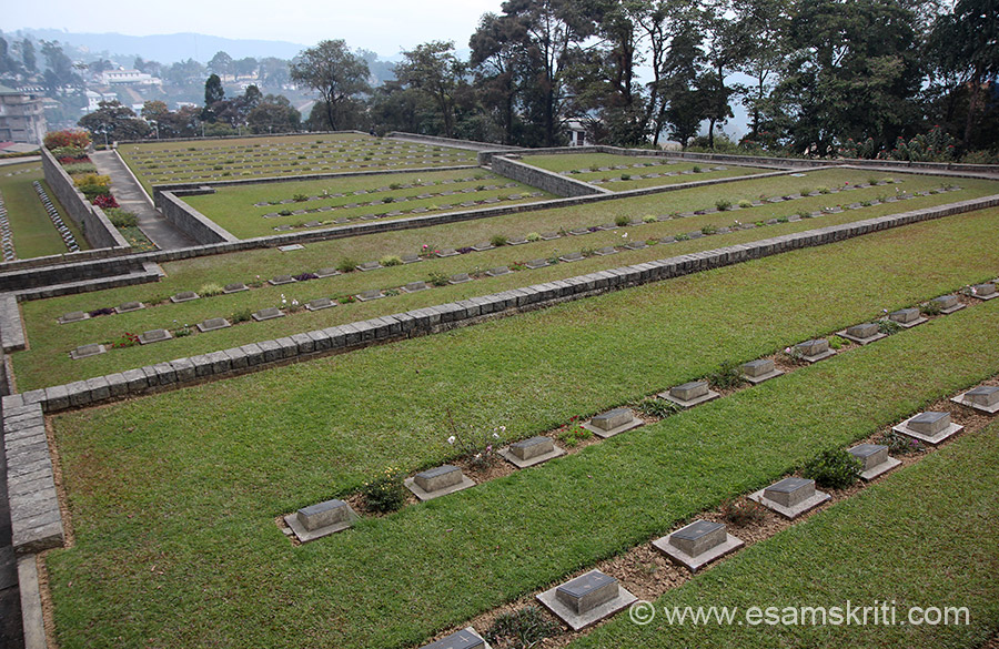 A view of the cemetery with Kohima town in the background. It closes at 3 pm, reached minutes before closing so pics rushed.