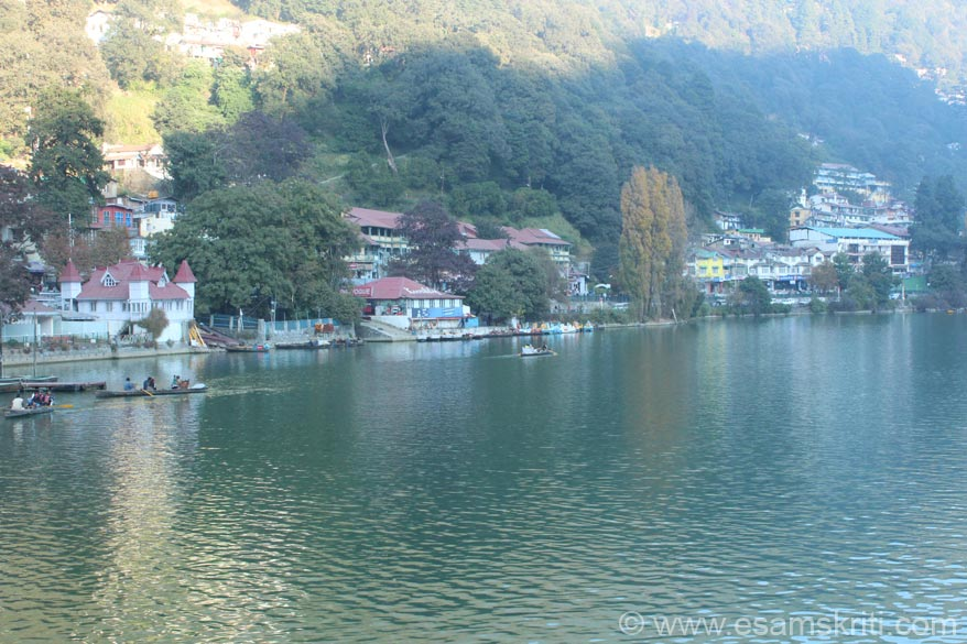 A view of the Naini Lake the town``s biggest attraction. Go for boating early morning. It is lovely, u will get a good rate also. Have omlette bread and tea close to the bus-stand in the morng,