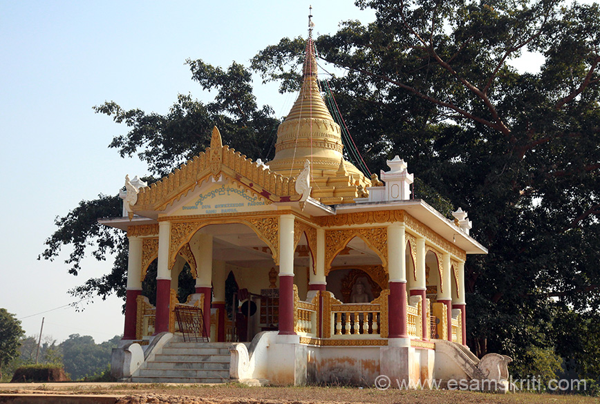 "Pic of Dhamma Dipa SHWEZEEGON PAGODA. Very peaceful and serene place. To see pictures of Bodh Gaya Temple <a href=""http://www.esamskriti.com/photo-detail/Bodh-Gaya-Temple.aspx"" target=""_blank"">Click here</a>"