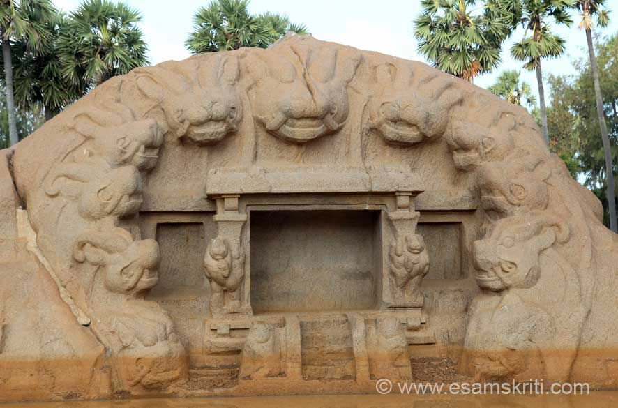 Shrine can be assigned to the time of Rajasimha.