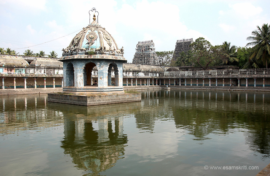 "Tank is called Siddhamirtha Theertham. It is huge. ""The water is said to have curative properties for various skin ailments."""