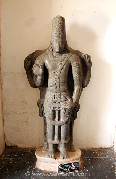 "Maha Vishnu 8-10th century. ""It is officially called the ""Raja Raja Chola Art Gallery"" and locally known as ""Thanjavur Kalaikoodam""."