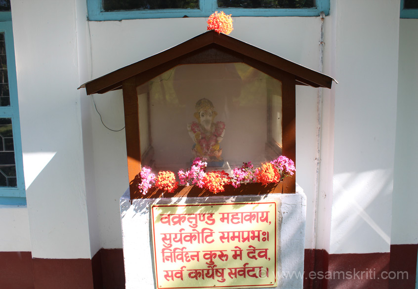 At the rear side of the admin building is image of Ganesha. He is invoked before the commencement of any good action (in this case virtual tour of RKM school) and is considered to be the remover of obstacles and master of knowledge and achievement. Class 11-12 is only for science students. Did Yatra in Sept 2013.