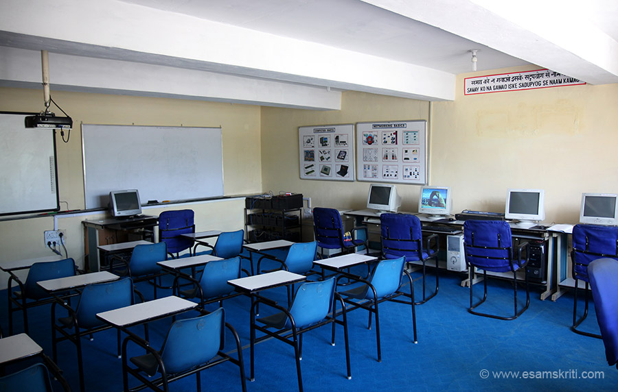 Computer Teaching section. Students are taught word, excel and power point. Impressive facility. Time I visited no classes were on.