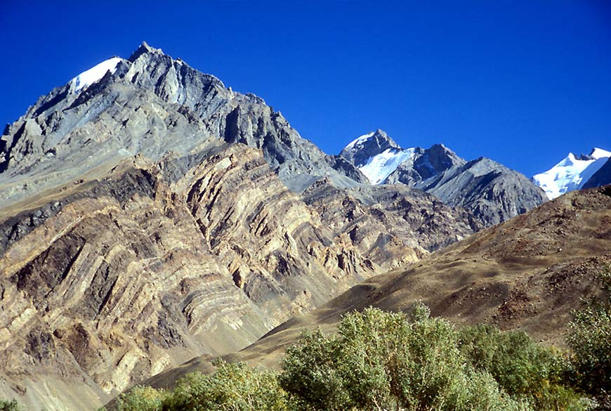 Spiti landscape. The same mountain in Spiti has different colors making it quite a awesome sight.