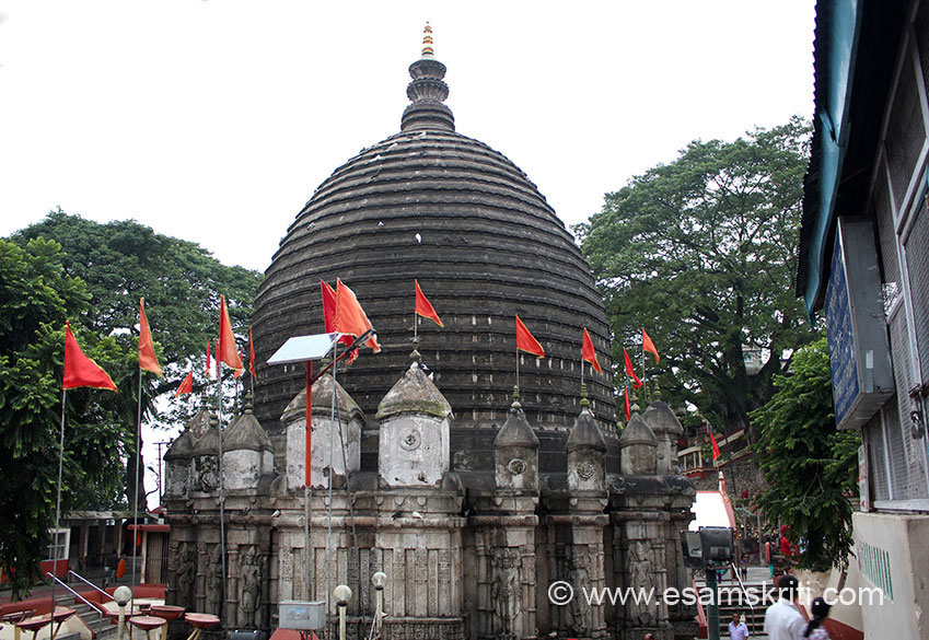 Dome like structure is what you see on entering temple. The sacred hill on which temple is Nilachala. The shrine was re-erected in 1565 on the instructions of Maharaja Naranarayana. The Ahom kings did a lot to build temples, gave landed property to the priests for their maintenance.