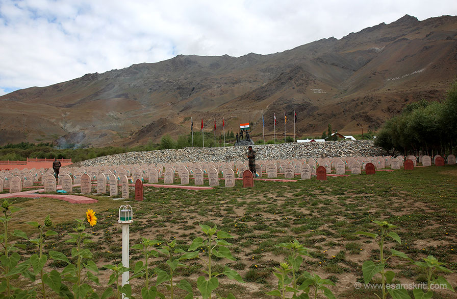 This is Vir Bhoomi where names of those who made the supreme sacrifice for Bharat, so that we can live in peace, are recorded. Pranams to each one of them.