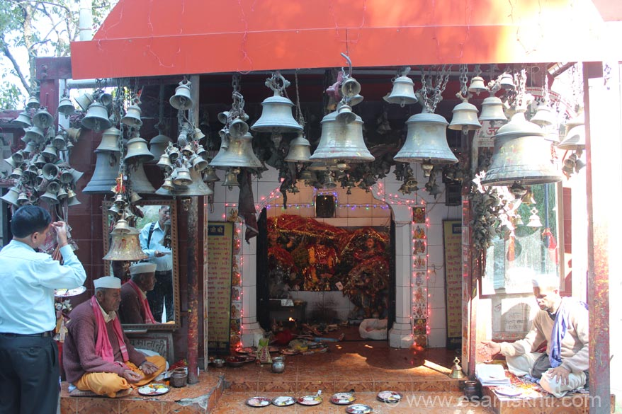 Enroute to Pithoragarh is Gurna Devi Mandir. All those driving through stop by and take blessings of the deity - is like praying for safe journey. Temple has many many bells like saw elsewhere