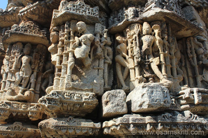 A close up of the carvings at higher level, most of them damaged as you can see. At Dwarahat do visit The Yogoda Satsanga Society of India Ashram (associated with Mahavatar Babaji).