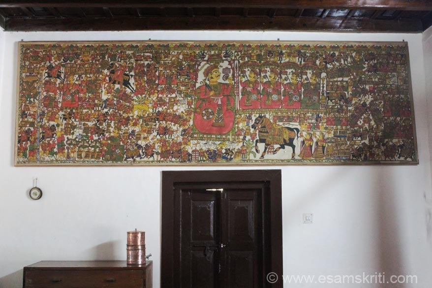Painting inside room where Mrs Vijaylaxmi Pandit, sister of first PM Pandit Nehru, stayed. In Oct 2012 entry fee into forest area is Rs 250/ for vehicle and Rs 150/ per person. Binsar is 