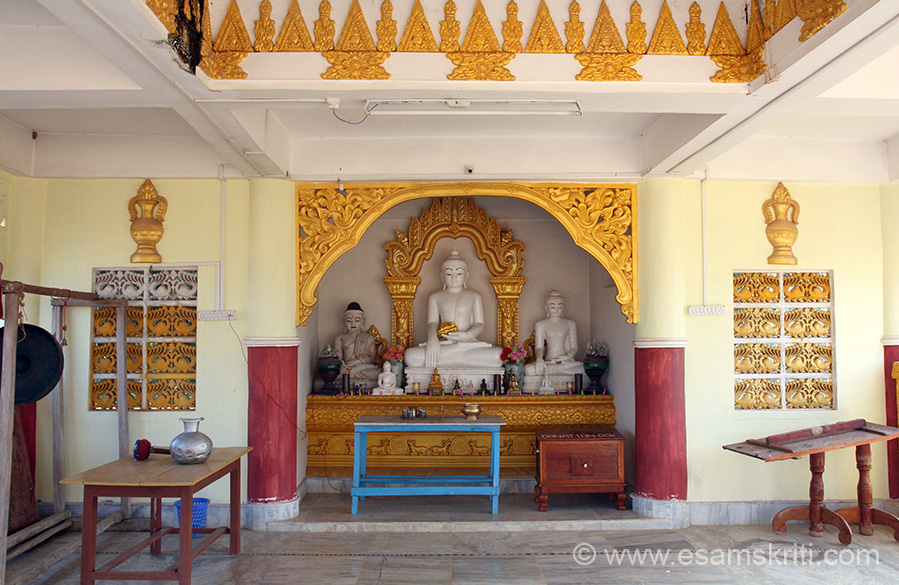 "Inside the Pagoda. Loved it. Always feel nice entering a Buddhist place of worship be it Bodh Gaya or here. To see pics of Rajgir <a href=""http://www.esamskriti.com/photo-detail/Rajgir-New.aspx"" target=""_blank"">Click here</a><a href="""" target=""_blank"">Click here</a>"