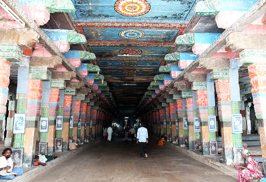 "East side entrance hall. End is sanctum. The main entrance from this side, a gopuram at entrance. Missed going there."" If you are a non-Tamilian doing the navagrah temples try to get a local