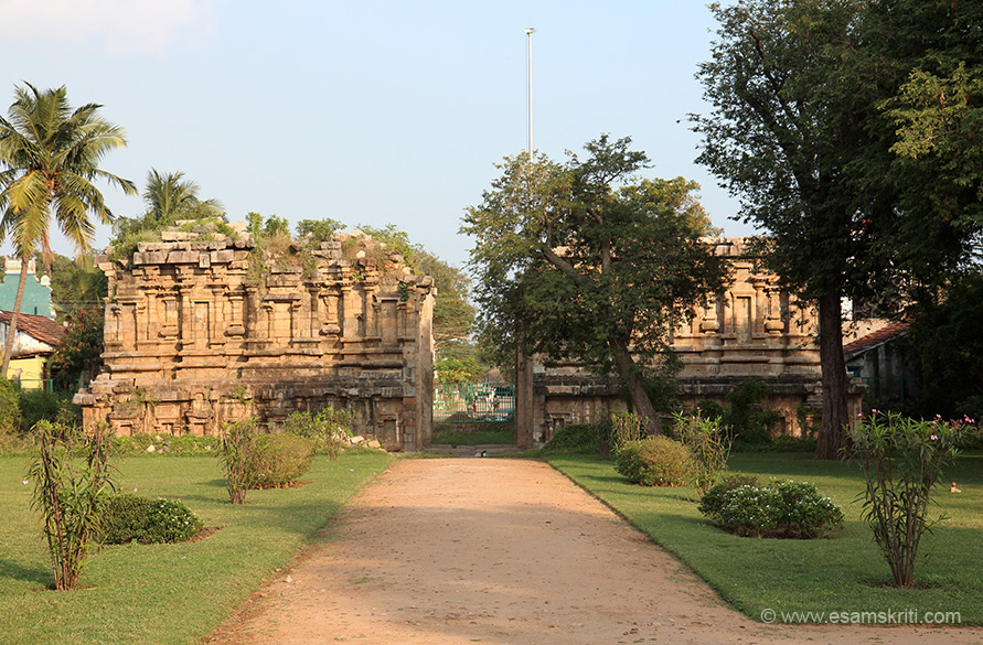 Ruins of main gopuram that would be temple entrance earlier-east facing.