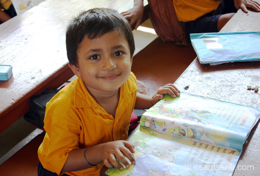 Here is another cute child. I loved gentle smile. The school attracts students from all over Arunachal and different tribes. Found children to be very well behaved.