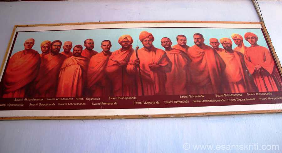 Whilst walking around one of the prayer halls / students dormitories saw this amazing picture of the first disciples of Swami Vivekananda and the Swami himself. So inspiring.