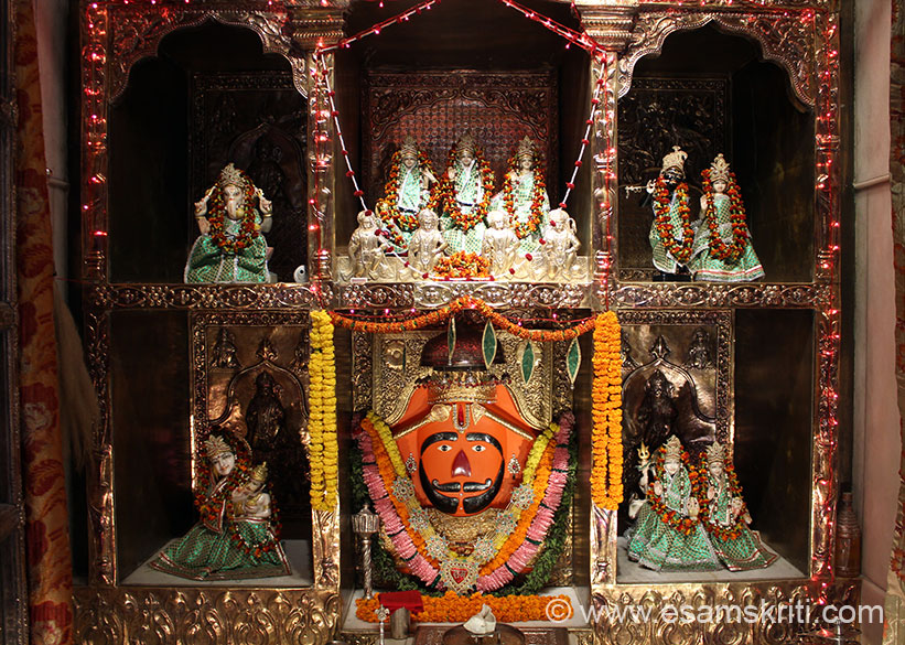 Slightly ahead is Tridev Mandir i.e. made by those who originate from Rajasthan. They have replicated two very popular places of worship there Salasar and Khatu Shyamji. This pics shows