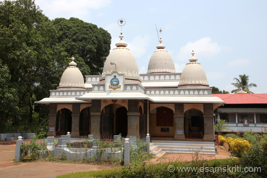 """Overview of temple in Ramakrishna Math ie at one end of school premises. To visit RKM Thrissur site <a href=""""http://rkmthrissur.org/srirama/""""target=""""_blank"""">Click here</a>"""