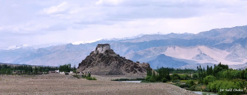 Stakna Monastery or Stakna Gompa is a Buddhist monastery of the Drugpa sect in Leh district. It is 25 kilometres from Leh on the right bank of the Indus River.