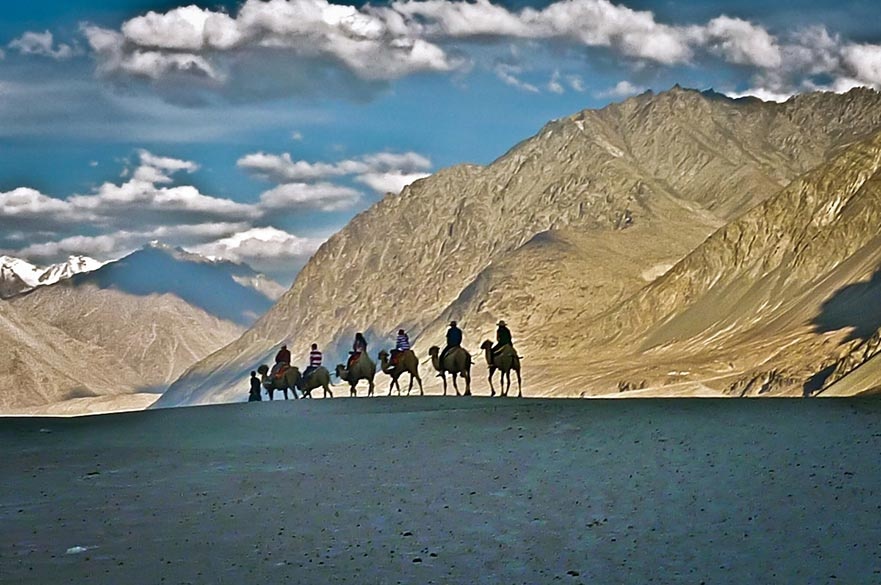 In Nubra Valley.