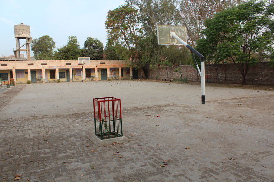 This is the school playground. It is a very small school, must have been quieter in the 1940``s when Ma was there.