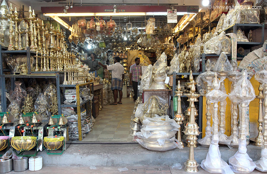 Shop near Rameshwaram or Madurai temples. Love these shops, could spend hours there.