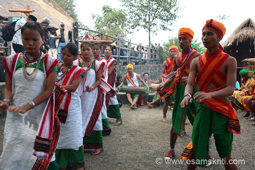Outside every home members of tribe performed their dance so to showcase their culture to tourists.  Note all homes are at a height, lowest level is open-air theatre where dance performances take place.