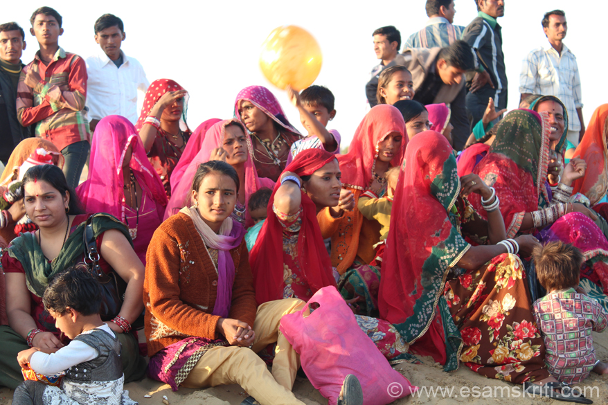 Colorful Rajasthani women ready to watch the lovely cultural program organised by Rajasthan Tourism.