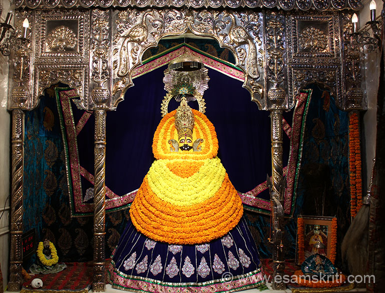 In same temple is image of Khatu Shyamji - a form of Lord Krishna. Earlier link has pics of temple in Rajasthan.