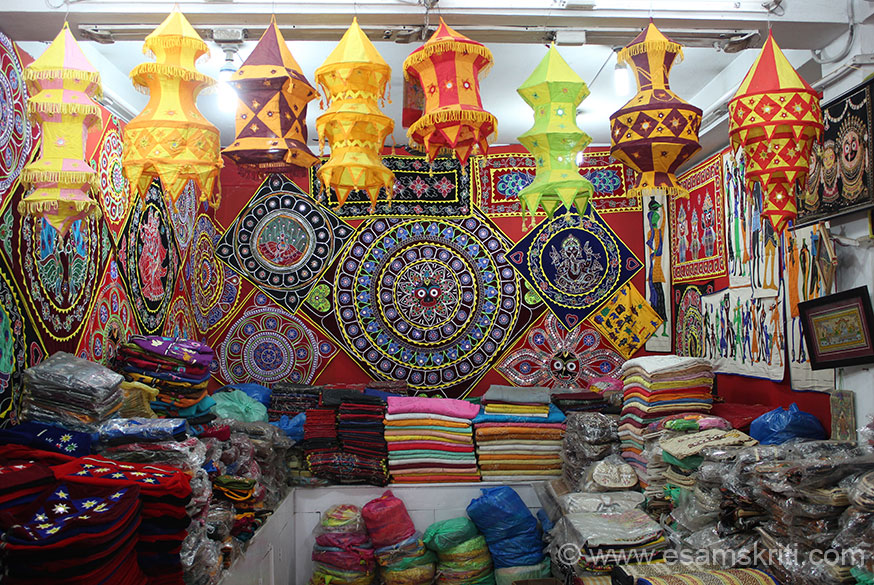"Lamp shades etc. To see pictures of applique work in Barmer, Rajasthan <a href = ""http://www.esamskriti.com/photo-detail/Barmer-Textiles.aspx"" target = ""_blank"" > Click here </a>"
