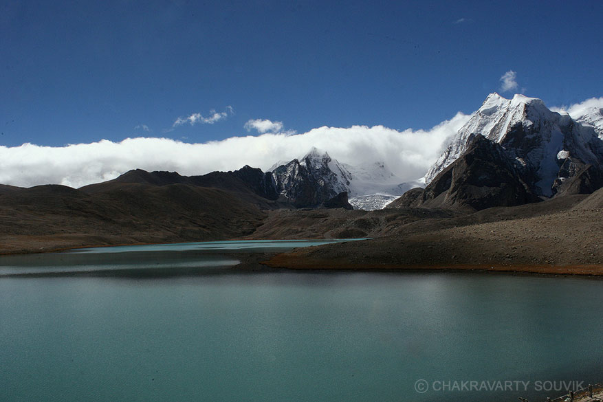 The holy Gurudongmar Lake. It is at a height of 17,100 feet and is amongst the top 15 highest lakes in the world. ``Named after Guru Dongmar, the lake has a religious appeal. The view of