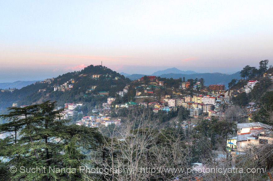 Beautiful view from The Mall Road, Shimla. To know about what to see in Shimla