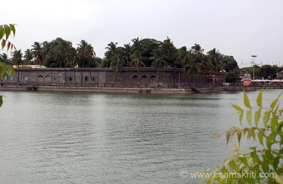 "U can do a parikrama around the lake. I walked half way. Rear side view. We missed seeing BHUIKAR FORT ie close to temple, famous for Animal park. To know about History of Solapur <a href=""http://www.solapuronline.in/city-guide/history-of-solapur "" target=""_blank"">Click here</a>"