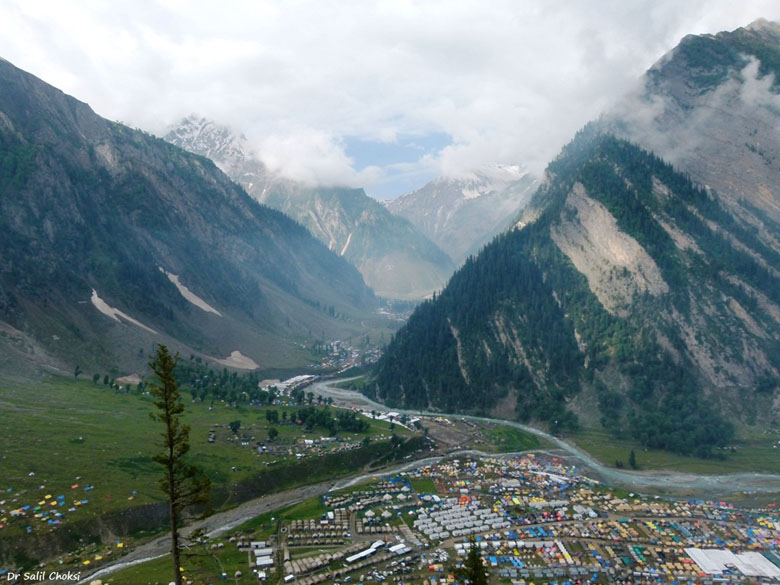 Baltal - Amarnath pilgrim camp (as seen from Srinagar Leh Highway.