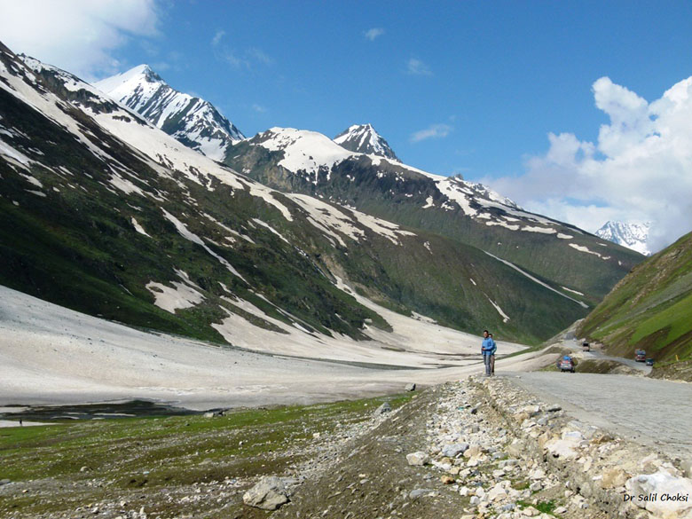 Zoji La pass (11649 feet). Reached after driving on a difficult motorable road from Sonamarg.