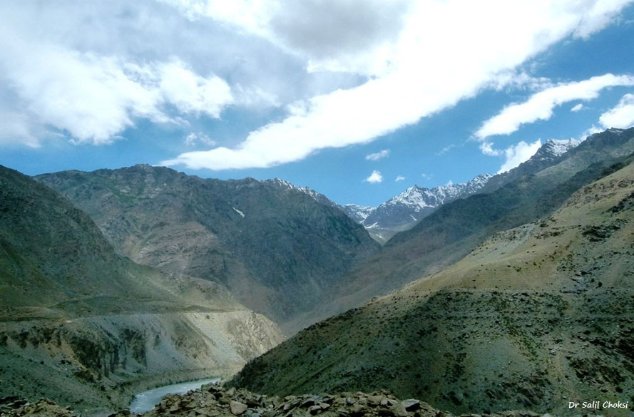 Breath taking beauty along the Drass river- near Kargil, on Srinagar Leh Highway.