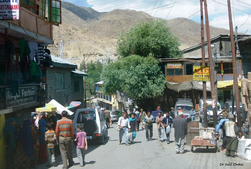 Kargil Town (8870 feet) - exactly midway on Srinagar - Leh Highway. It is the second largest town in Ladakh (after Leh), and a major transit point for adventure tourists.