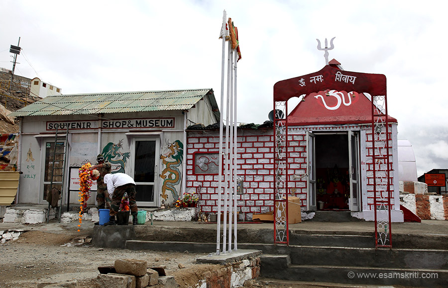 Army temple and souvenir shop.