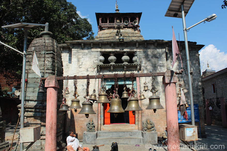 Entrance to temple. Also visit the Kot Brahman temple, Gauri Udiyar temple at a distance of 8kms large cave with images of Lord Shiva, Chandika temple dedicated to goddess and 