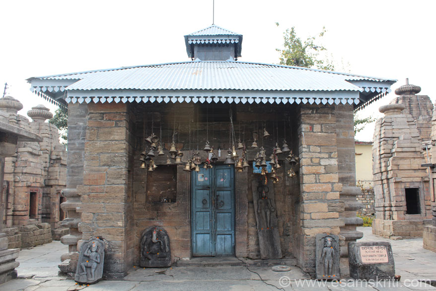 Entrance to the main temple Pancharatha. U can see the 4.5 feet image of Goddess Parvati but are not allowed to take pictures. There is no shikhar since it collapsed in the past, instead