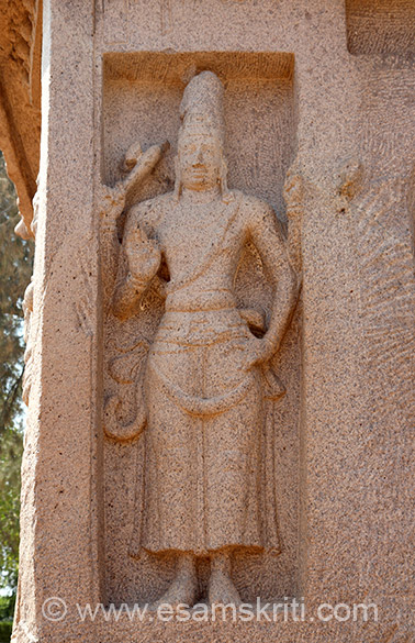 "This image is of Harihara. Also seen in Temples of Aihole, see pic no 17  <a href=""http://www.esamskriti.com/photo-detail/Aihole-Temples.aspx"" target=""_blank"">Click here</a>"