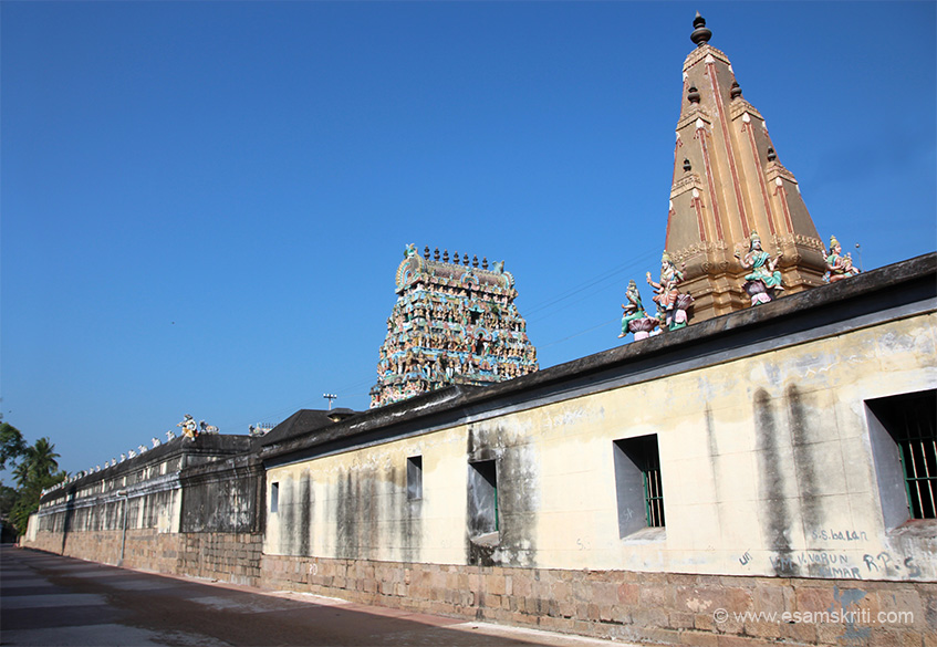 "Always do a parikrama around temple before entering sanctum. I think temple on right is Mookambica, made in North Indian style. ""The Goddess is in the pose of doing penance. She is mentioned as Pidari Parameeswari in inscriptions.""