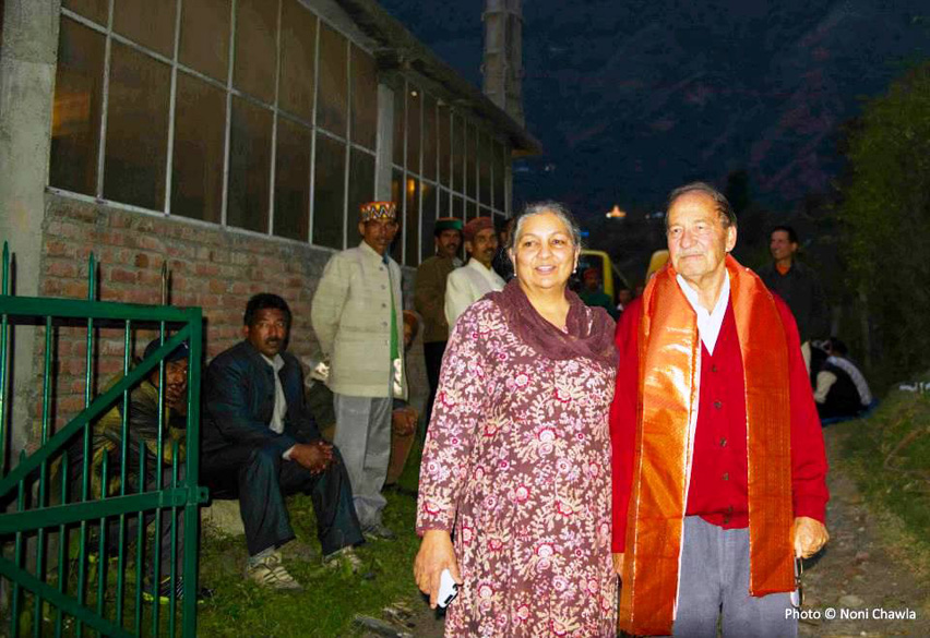 "Jimmy and Bala Johnson, the generous hosts at Raison. ""As many as 292 local deities have come to Kullu to pay obeisance to the presiding deity, who would camp at Dhalpur for seven days and religious ceremonies would be held."""