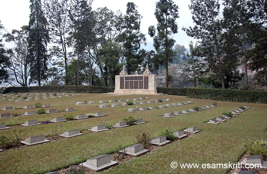 "Memorial at end of pic has names of Hindu and Sikh soldiers who made the supreme sacrifice in this battle. To see pics of INA Museum Moirang in Manipur  <a href=""http://www.esamskriti.com/photo-detail/INA-Museum-Moirang.aspx"" target=""_blank"">Click here</a>"