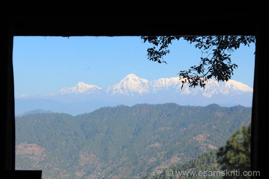 U see Himalayan Peaks through the window in one of the cottages. Loved the cottage. Very cosy and romantic.