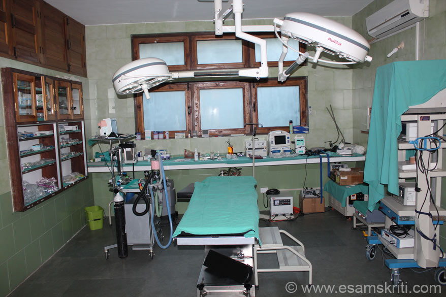 I was very impressed with the Operation Theatre, maintain high standards of hygiene. The Arogya project involves 25 villages and is impacting app 15,000 people from Nainitial, Chamoli