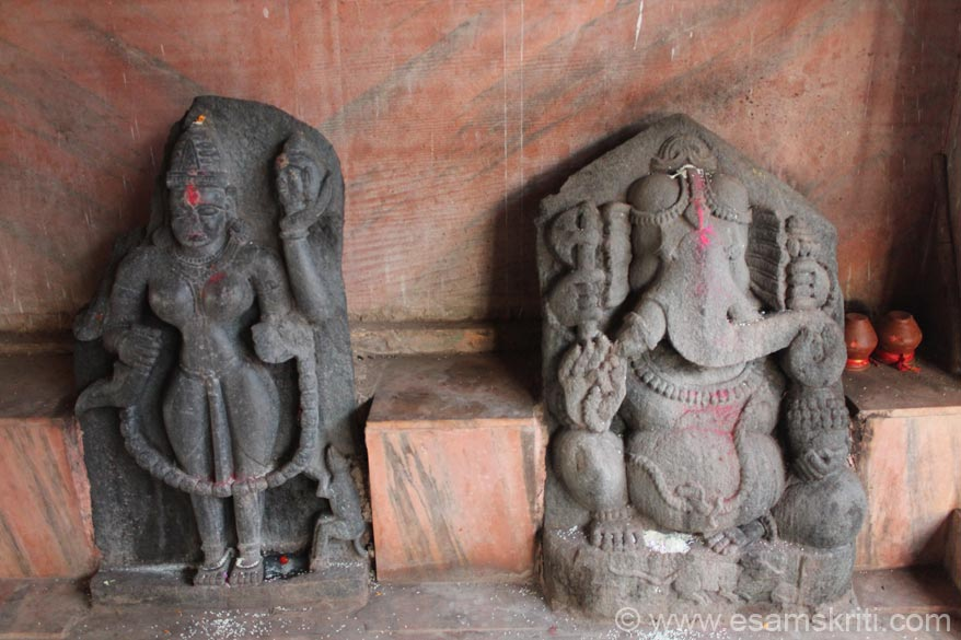 On left of earlier images are these two stone images one of which is Ganesha. Like I said earlier period stone images are placed all over the temple.