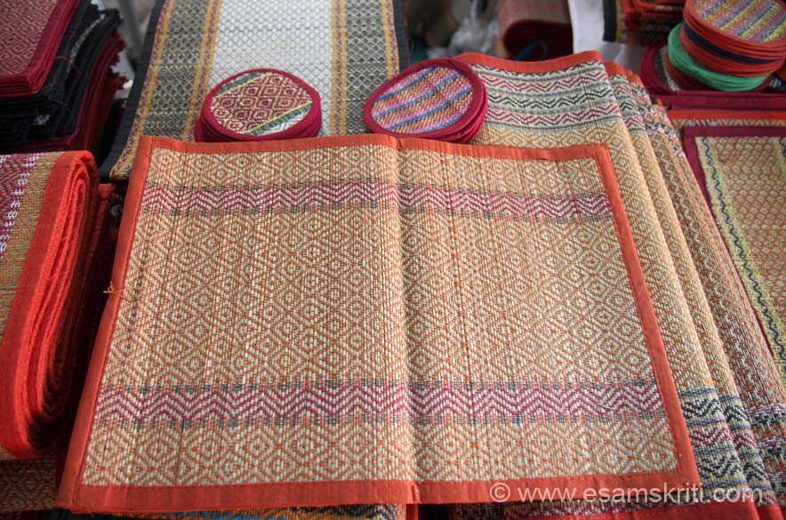 "Table-mats, coasters by DAS MAT WEAVING from Paschim Medinipur, West Bengal. Contact Anil Chandra Das 91 9474759894, 03222 241065,  <a href=""mailto:bikash083@gmail.com"">bikash083@gmail.com</a>"