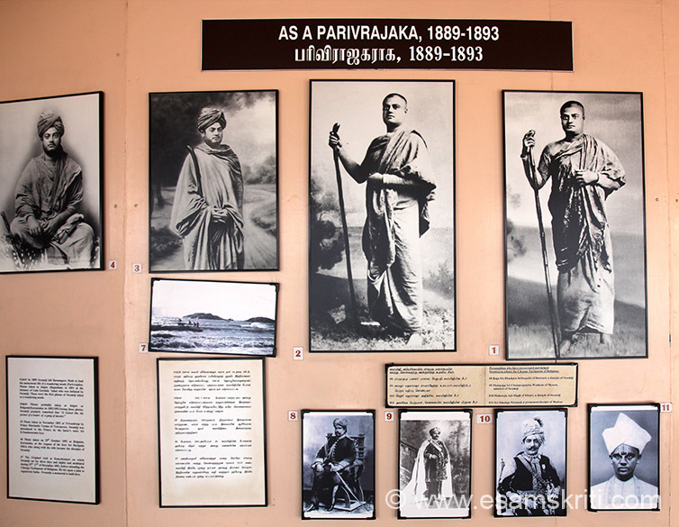 Pic no 7 is the original rock at Kanyakumari where Swamiji meditated from 25-27th December 1892. Below are Personalities who helped and supported Swamiji to attend the Parliament of Religions.. Close up in next pic.